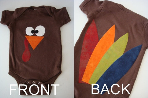 Turkey baby outfit from GoodieN2Shoes