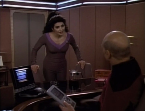 """May I make a suggestion. . ? Relax."" - Deanna Troi"