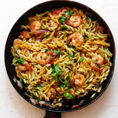 Pasta and Shrimp in 15 minutes Recipe