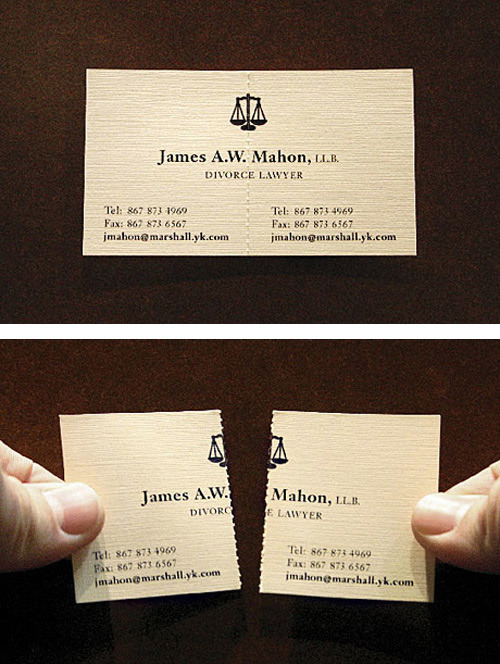 247ltd:  Divorce Lawyer Business Card  This is priceless, LOL,