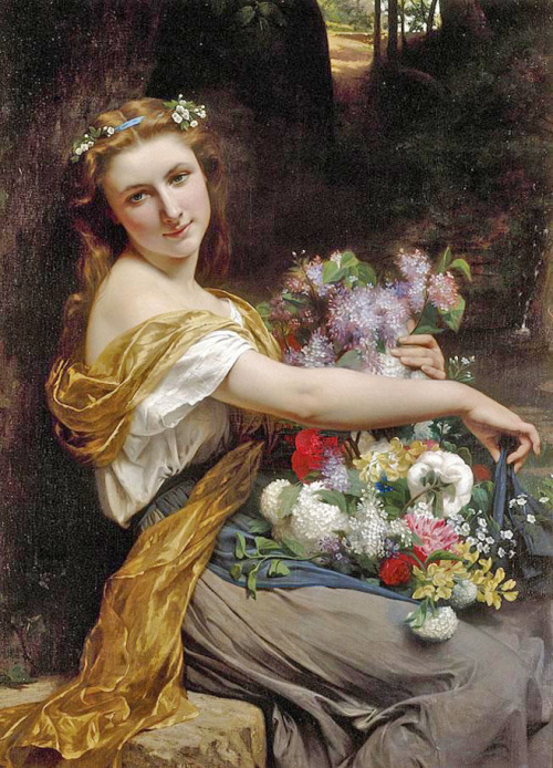 in-the-middle-of-a-daydream:  Pierre-Auguste Cot (1837–1883) - Dionysia, 1870.