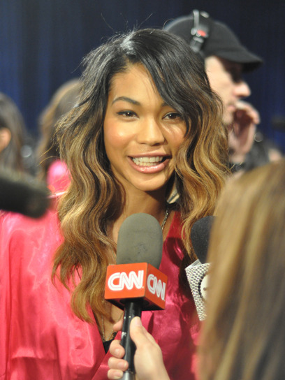Dying to know Chanel Iman's secret to perfect skin? She tells all backstage at the Victoria's Secret fashion show. Get the scoop here »