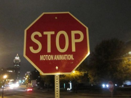 Stop Motion Animation Vandalism Makes much more sense than Yield Motion Animation.