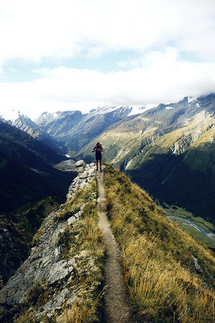 | ♕ |  Bright path - Mt Aspiring, NZ  | by © nico nuzzaci | via ysvoice
