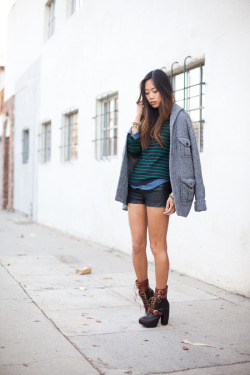 aimee of song of style in the andee strapped boot <3