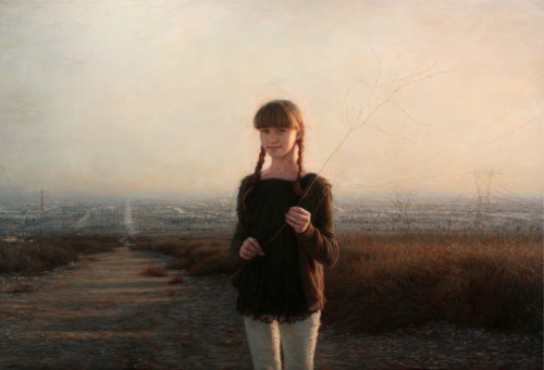 "Julio Reyes, ""Tread Softly,"" Oil on Linen, 42"" x 63"""