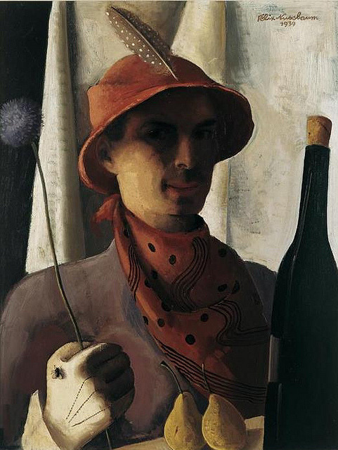 Felix Nussbaum, Self-Portrait, 1939 by kraftgenie on Flickr.