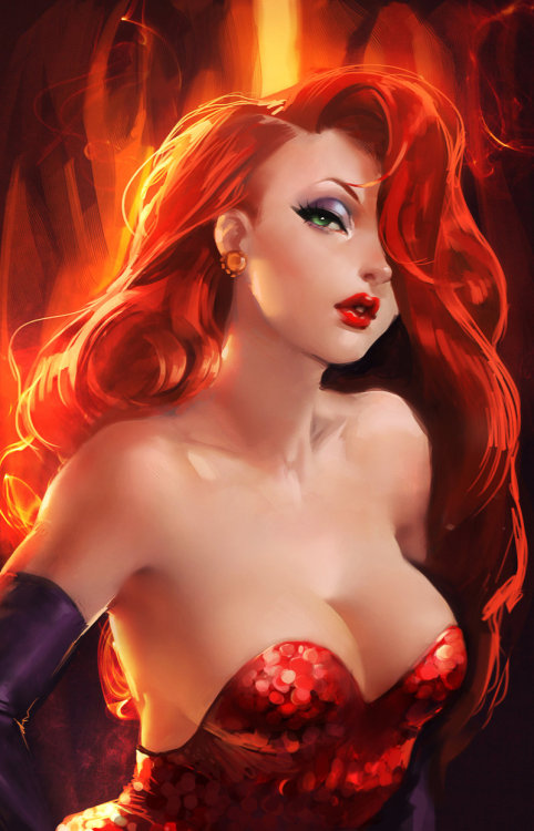 Because I can't stop myself from posting amazing Jessica Rabbit fan art.