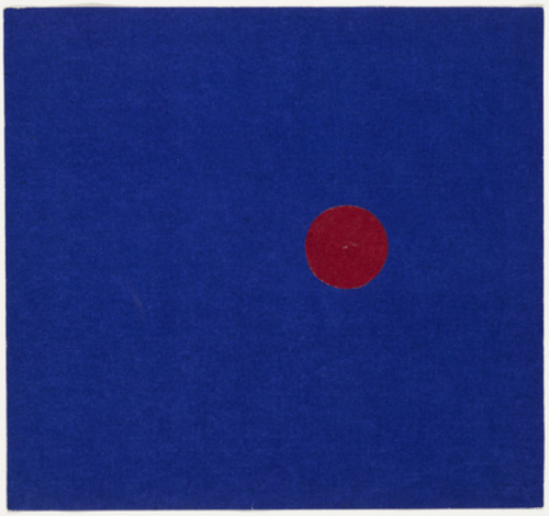 cavetocanvas:  Red and Blue - Ellsworth Kelly, 1951