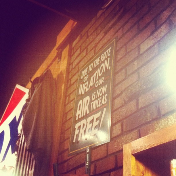 """due to the rate of inflation our is is now twice as free"" (Taken with instagram)"