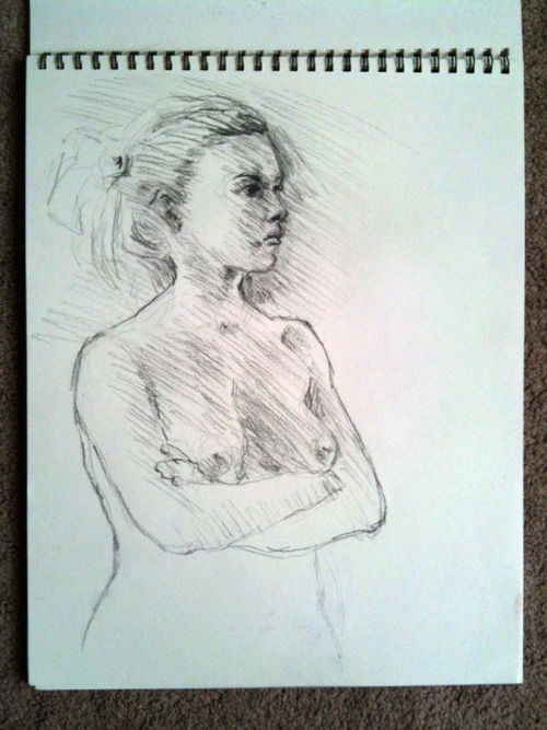Figure drawing friday, graphite. would have liked more time on this one, though!