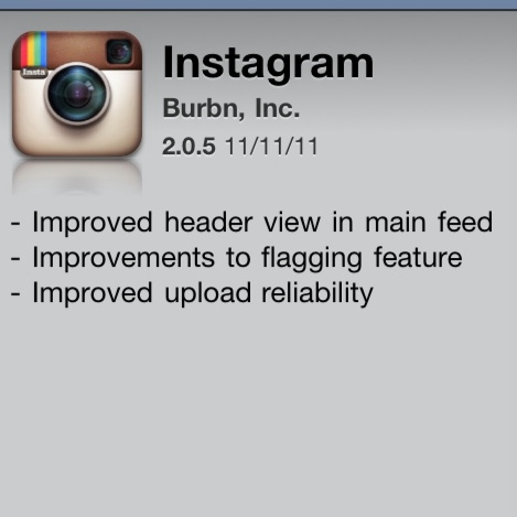 Instagram update 2.0.5 is here! But no return of the Gotham filter. Sorry, guys…