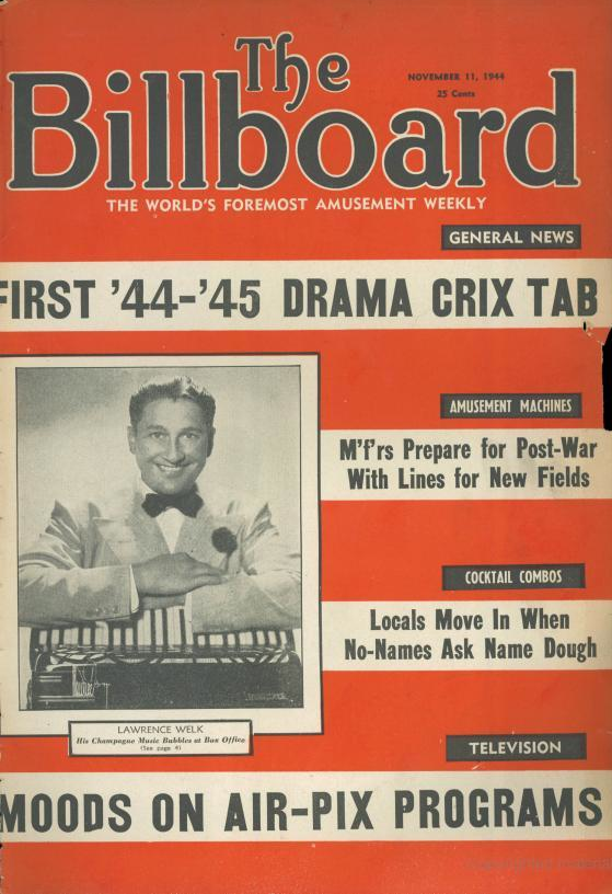 An 11/11 cover: Billboard, November 11, 1944 featuring Lawrence Welk