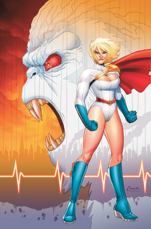 … Title:   Power Girl:  A New BeginningWriter:  Jimmy Palmiotti & Justin GrayArtist:  Amanda ConnerPublisher:  DCGenre:  Superhero / Action / Adventure Have I Read It?:   Hell yes. Suggested For:   fistaphobia Synopsis:   [via Amazon]  The fan-favorite writing team of Jimmy Palmiotti and Justin Gray (JONAH HEX, TERRA) team with popular aritst Amanda Conner (JSA CLASSIFIED, TERRA) for the rip-roaring solo adventures of Power Girl. She bursts from the pages of the JUSTICE SOCIETY OF AMERICA to star in her own series. Power Girl wants to build herself a secret identity but a major villain from her past, the Ultra-Humanite, has other plans in store for her and to get his way, he's holding Manhattan hostage. Plus, a trio of sexy alien marauders hits Earth for the ultimate party. Unfortunately, by their standards, that means destroying it! Comments: I have been reading superhero comics on and off pretty much since I've been able to read.  And in all that time, there is perhaps no character that was less appealing or absurd to me than Power Girl.  I don't know why, exactly.  She had a convuluted backstory.  A terrible costume.  I've never been a fan of Superman (to which family tree Power Girl belongs).  I just didn't care. Then a couple of years ago I heard about this new run of Power Girl.  Good things.  Great things.  Week after week.  I had a peek and the art caught my eye.  A clean, fun, cartoony style.  I found myself at my first comic convention around the time that issue #4 was out, so I picked it up and grabbed #1-3 as well.   I fell in love. This comic was so fun and fresh.  It was funny and sexy in a non-salacious way.  It was the polar opposite of a lot of the gritty, brooding books that dominated the shelves, and it made me instantly care about this character.  I was immediately hooked.  The writing team of Palmiotti and Gray and artist extraordinaire, Amanda Conner, stayed on the title for 12 issues.  This book collects the first six.  I've recommended this for fistaphobia because he seems to like fun and art and women, of which this book has plenty.  A real joy to read.