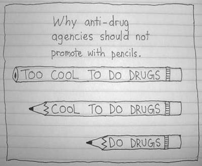 Do more homework. Get to do drugs. (check!)