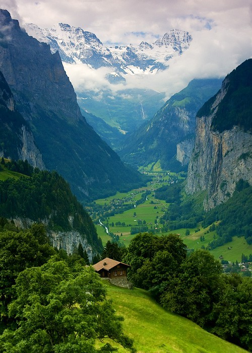 gregbackwards:  cherokeewahine:  Interlaken, Switzerland  This is where I want to be for forever.