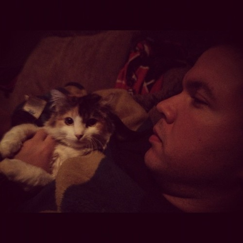 A man and his cat, part 2 (Taken with instagram)