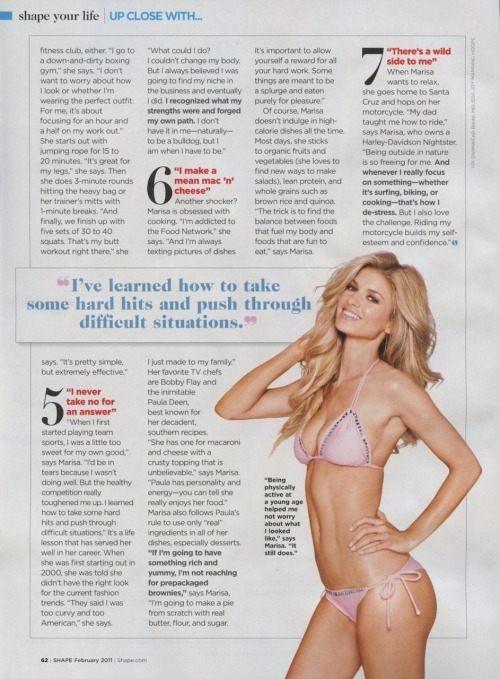 doitforever:  How to get a bangin' body like the amaaaaazing Marisa Miller…enjoy :)