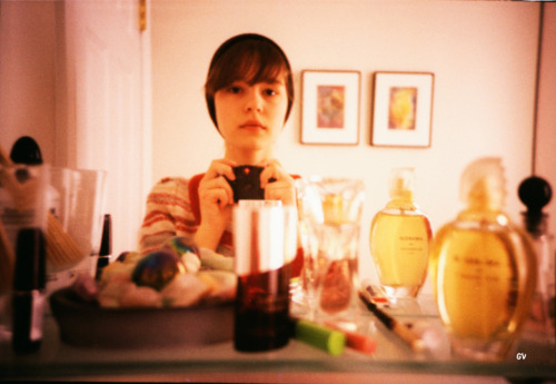 LC-A+, Fuji Velvia 100.Self-portrait in the mirror, back in the winter :P