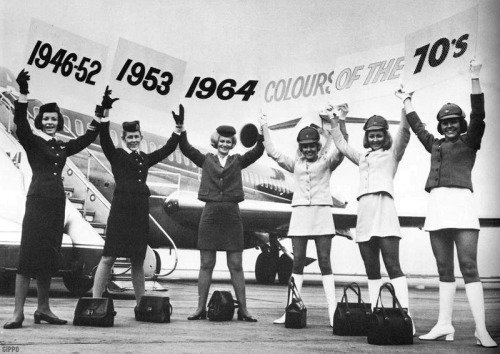 U.S. Airline stewardesses through the decades