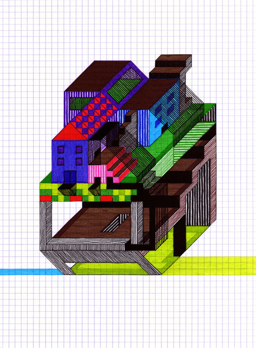 (via Blog: Totally Axonometric - Doodlers Anonymous)