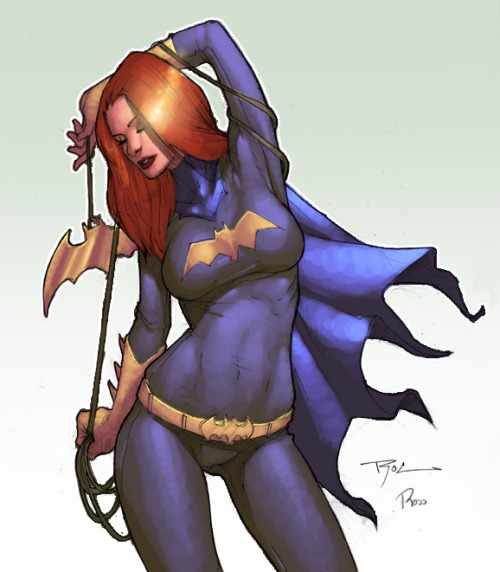 Batgirl by Rocwell QuickPaint by *Ross-A-Campbell