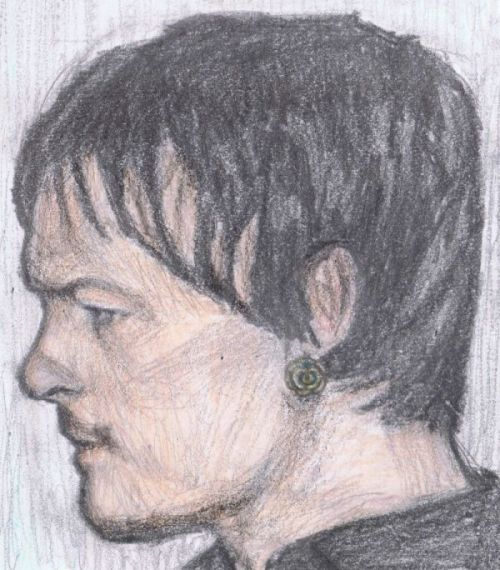 gonnabitegagasbutt:  Norman wearing earrings made by LittleFairyCult http://www.littlefairycult.co.uk/free-pair-of-polymer-clay-rose-earrings-with-every-order/  nice