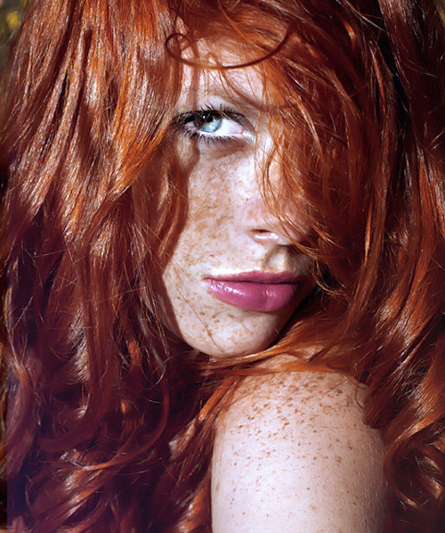 Freckles and red hair. Are they evil? I hope so.