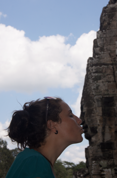 Busy day in Siem Reap, Cambodia… checking out temples, and y'know, kissing new men. :)