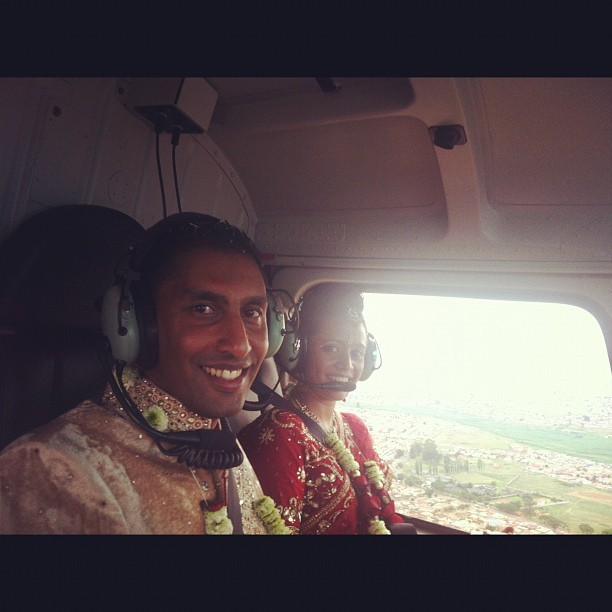 On our way with @suren027 #heli #wedding  (Taken with instagram)
