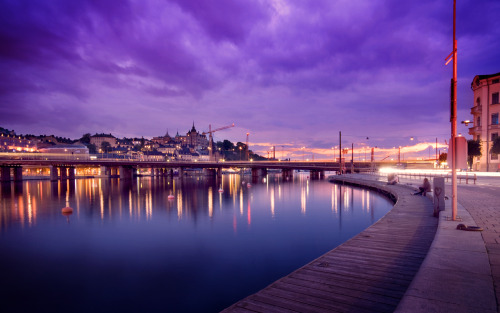 stockholm beautiful sights water cight lights gorgeous view