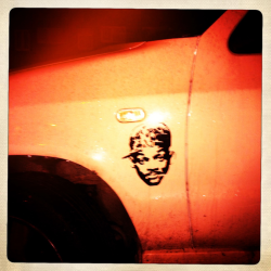 Will Smith car decal  London, November 12th 2011