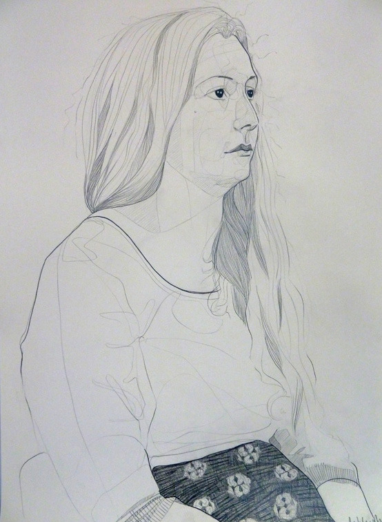 Portrait from the Prince's Drawing School 'Drawing A Head' sessions in pencil on paper.