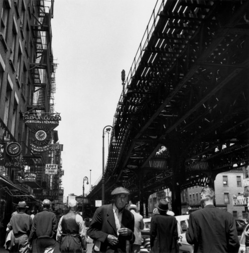 Under the El at the Bowery, New York, c. 1950 Berenice Abbott