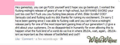 whitewhine:  Gamestop is quickly becoming the most White Whined about company. Move over, Starbucks…