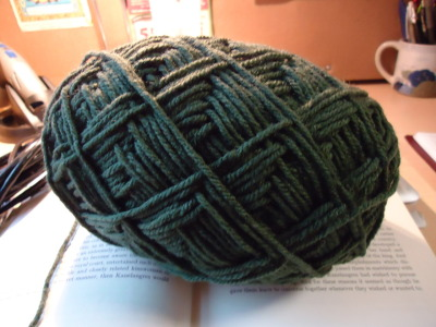 Unwinding a new ball of yarn, about to start a new project for RGB! Those of you who live downtown might soon recognize this yarn appearing… :)