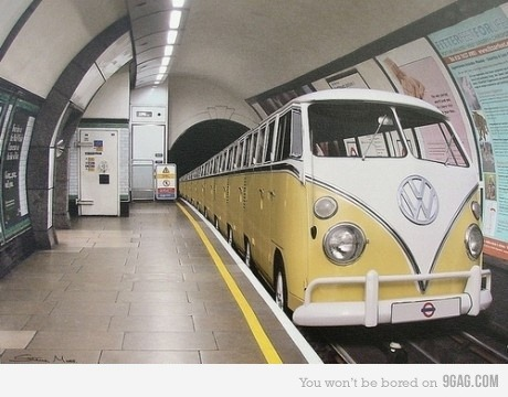 I had no idea that VW made trains… or is it Photoshop?