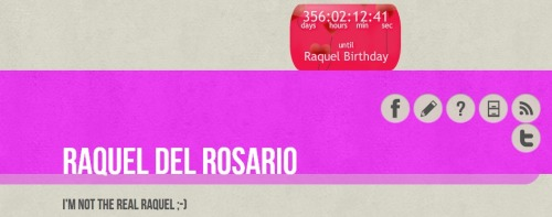 New Widget For Raquel Birthday