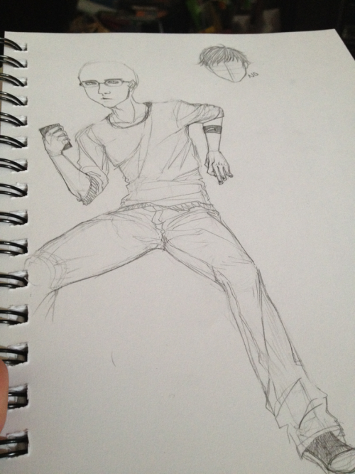 Wip of humanstuck sollux….. Can't get his hair right though….. ARGGG