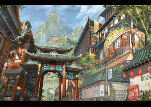 City Scene, by ChaoyuanXu. This is quite cool!