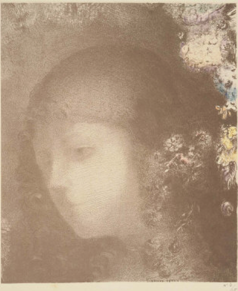 Head of a Child with Flowers - Redon
