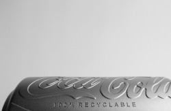 Embossed Coca-Cola logo