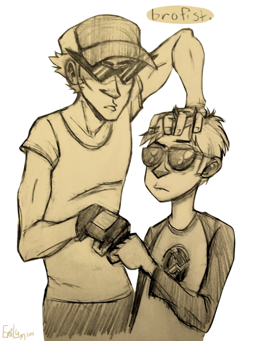 emilylikesaliens:  alien-town:  I love these two~  ah rebloggin old art
