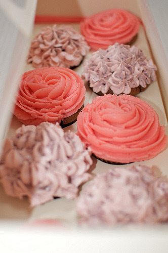 Rose and Hydrangeas cupcakes!