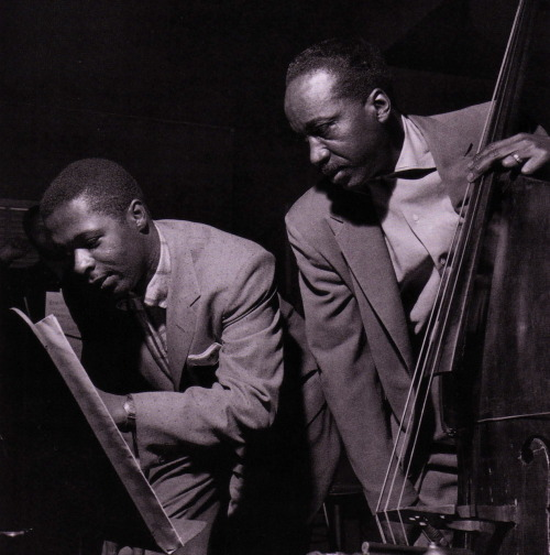 Wynton Kelly and Gene Ramey at the Sonny Rollins Volume One session, Hackensack NJ, December 16 1956