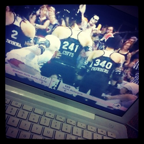 Watching Roller Derby …  #wftdaBig5 #RollerDerby #Brasil (Taken with instagram)