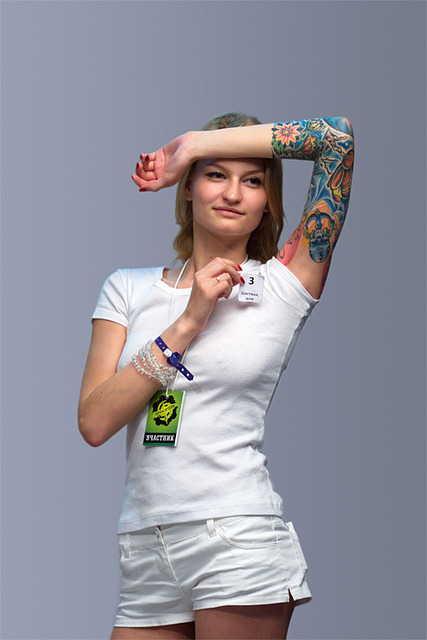 The colored female tattoo #3 by Oleg Mirabo on Flickr.IX St. Petersburg International Tattoo Convention 2011