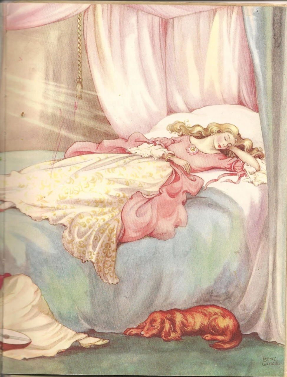 "fairytalemood:  ""Sleeping Beauty"" by Rene Cloke"