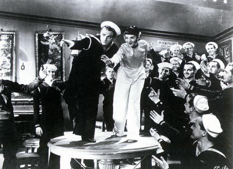 "sailorgil:  "" Footlight Parade "" ….. A Busby Berkeley film [1933], starring James Cagney and many others … This film has choreographed swimmers and dancing sailors !! See the trailer here: http://www.imdb.com/title/tt0024028/  See more photos here: http://charlestheatreworkersunion.blogspot.com/2010/01/revival-footlight-parade.html"