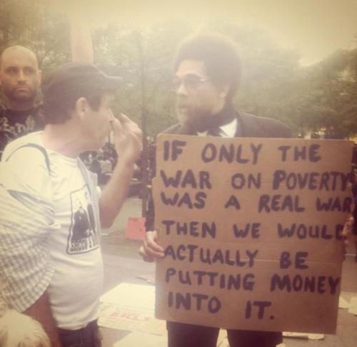 vintageanchor:  Dr. Cornel West, author of RACE MATTERS, at Occupy Wall Street…